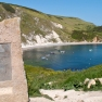 Lulworth Cove in Dorset UK