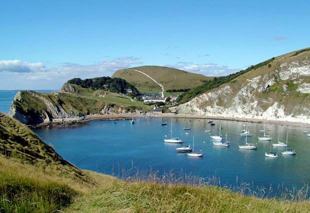 Lulworth Cove in Dorset, England