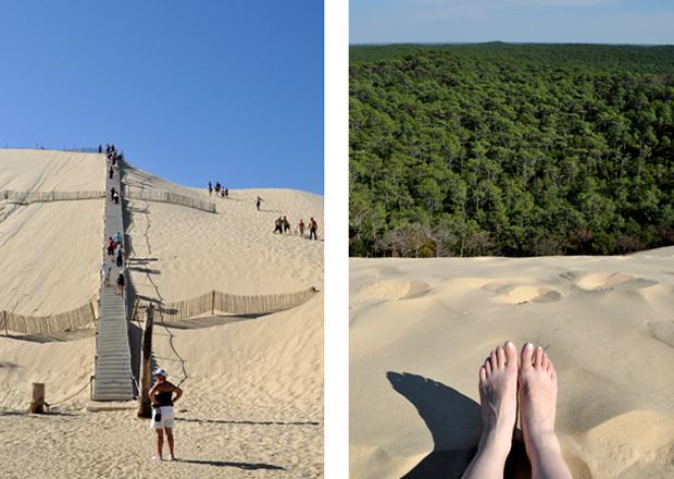 The Dune du Pyla sand dunes on the Cote d'Argent