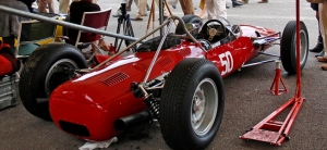 Vintage racing car at Goodwood Revival event