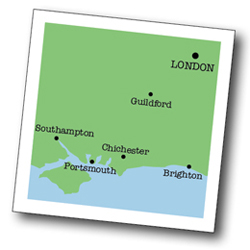 Map of Goodwood and Chichester area
