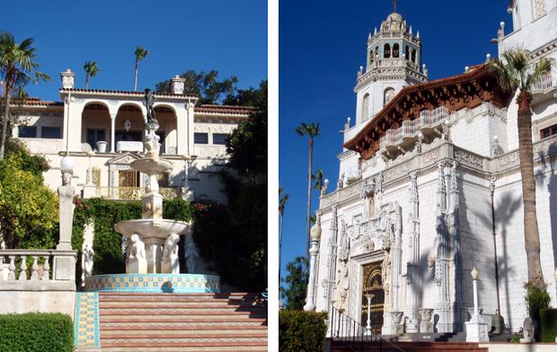 Architectural detail of Hearst Castle in California