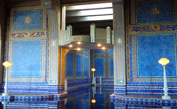 Indoor swimming pool at Hearst Castle in California