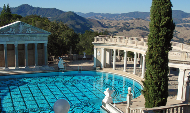 Swimming pool at Hearst Castle in California