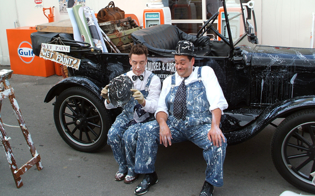 Laurel and Hardy at Goodwood Revival vintage event