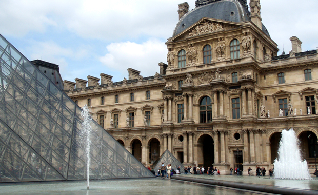 The Louvre art gallery and museum in Paris