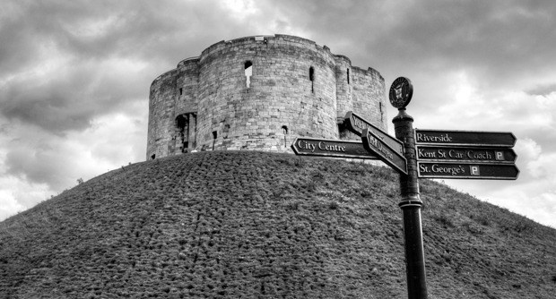 Clifford's Tower monument in York