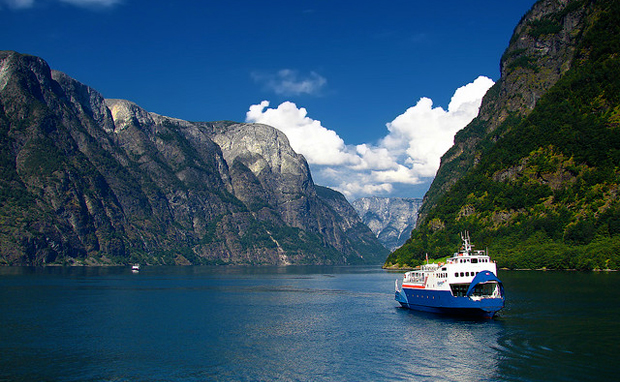 Boat trip on the fjords in Norway