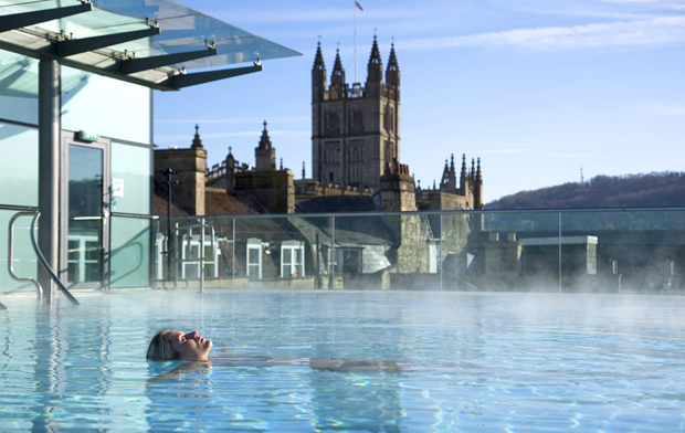 Rooftop pool at the Thermae Bath Spa