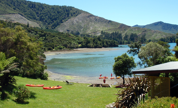 Hopewell in Marlborough Sounds in New Zealand