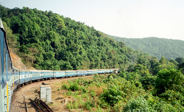 Train from Goa to Delhi in India