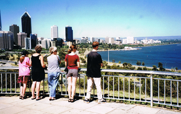 Overlooking Perth in Australia from King's Park