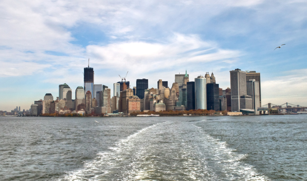 View of New York from the Staten Island Ferry