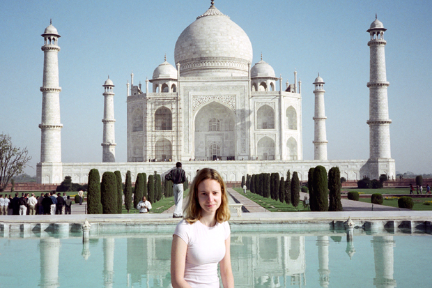 At the Taj Mahal in Agra, India