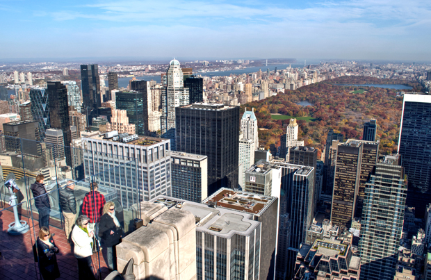 View from the Top of the Rock at the Rockerfeller Centre in New York