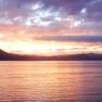 Sunset over Lake Waikaremoana, New Zealand