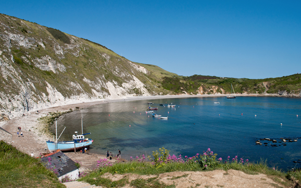 Lulworth Cove in Dorset