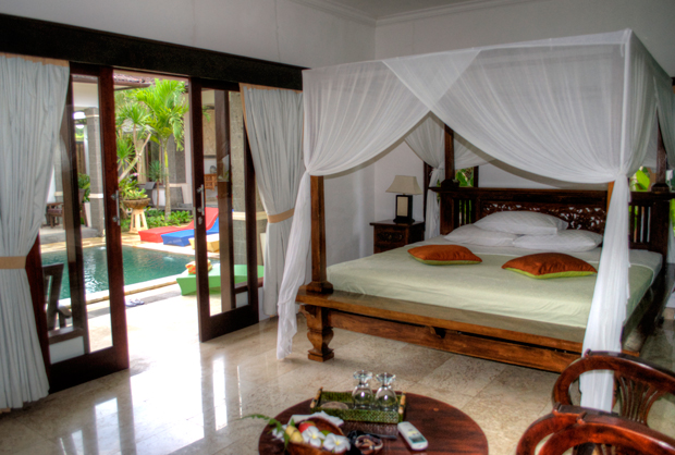 Room at the Balam Bali Villa near Ubud