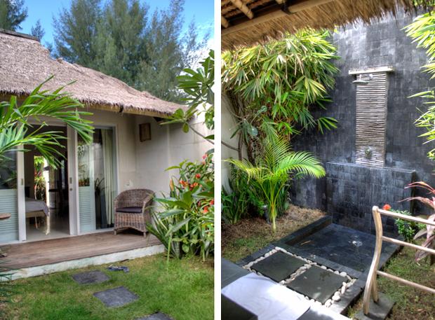 Room and outside bathroom at Scallywags, Gili Trawangan, Indonesia