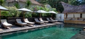 Pool at Scallywags, Gili Trawangan, Indonesia