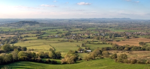 View across the Cotswolds from Birdlip, Gloucestershire