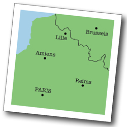 Map of Reims in France's Champagne region