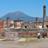 The Pompeii archaeological site and Vesuvius volcano, Italy