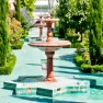 Fountains in the gardens of the Grande Mosquee de Paris, France