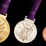 Olympic bronze, silver and gold medals