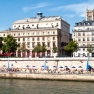 Beaches along the Seine in summer as part of Paris Plages, France