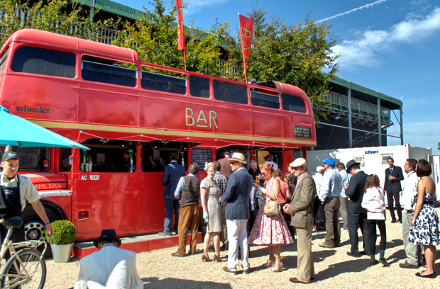 London bus bar at Goodwood Revival vintage event 2012