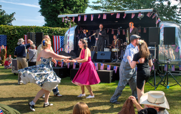 Swing dance and jive at Goodwood Revival vintage event 2012
