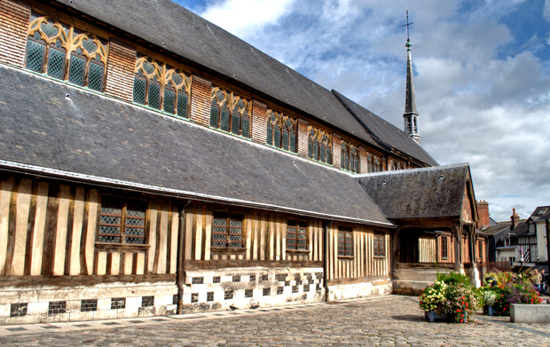 Saint Catherine's wooden church in Honfleur, Normandy, France