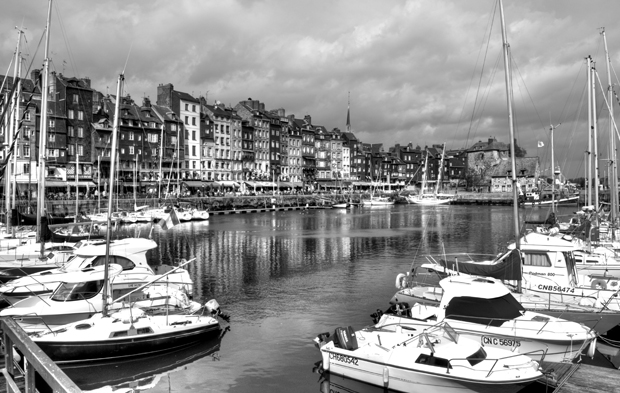 Boats in the harbour in Honfleur, Normandy, France