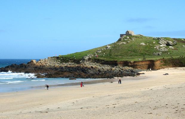 Portmeur Beach in St Ives, Cornwall, UK