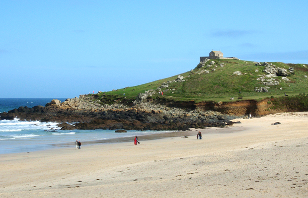 Portmeur Beach in St Ives, Cornwall, UK