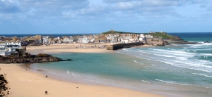 The bay at St Ives in Cornwall, UK