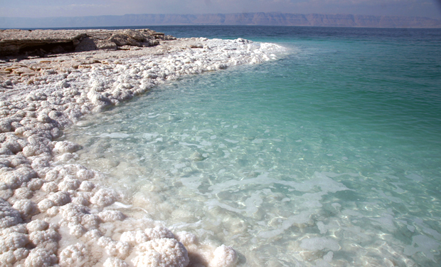 The salt water of the Dead Sea, Jordan