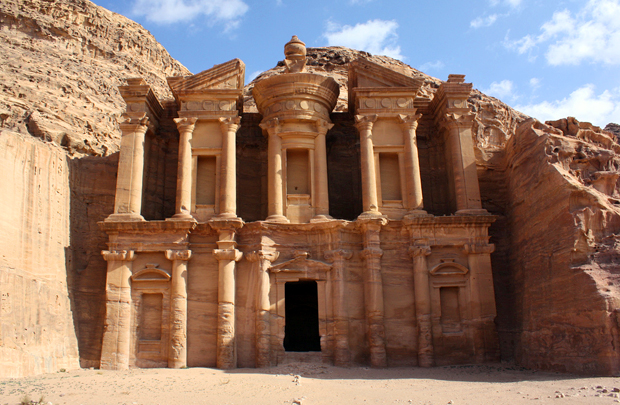 The rock temples of Petra, Jordan