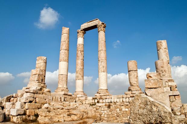 The Roman citadel in Amman, Jordan