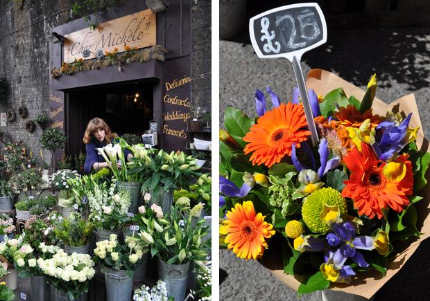 Florist at Borough Market in London