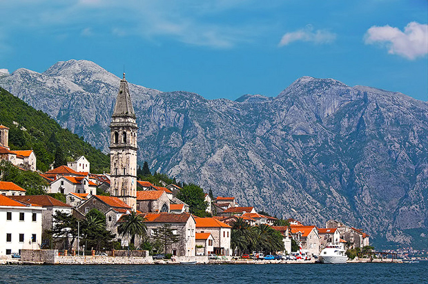 The fjords of the Bay of Kotor, Montenegro