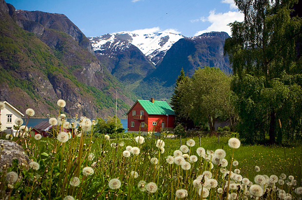 Chalet among the mountains of Norway
