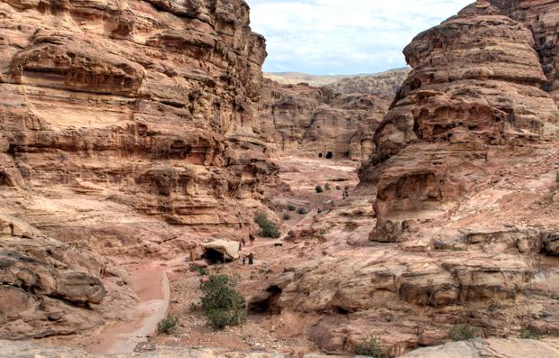 The path to the Monastery in Petra, Jordan