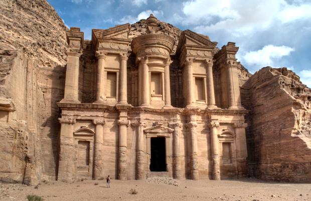 The mountainous Monastery in Petra, Jordan