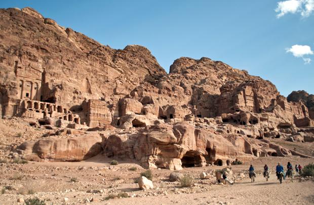 The Royal Tombs in Petra, Jordan