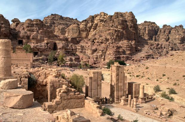 The Roman ruins of Petra, Jordan