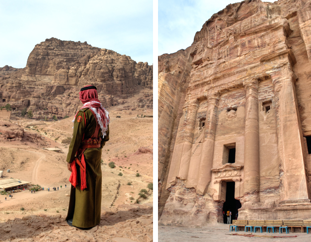 The Urn Tomb, part of the Royal Tombs at Petra, Jordan
