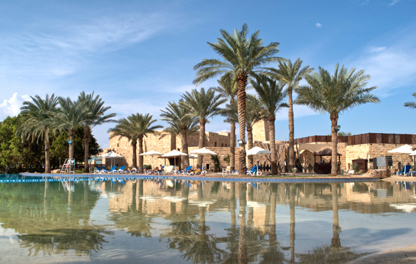 Swimming pool at the five star Movenpick Hotel and Spa Dead Sea, Jordan
