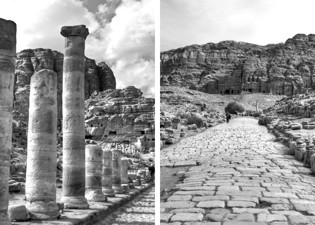 Petra in black and white, Jordan